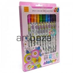 Набор фломастеров для росписи по ткани и керамике, 12 цветов, Soundy Concept