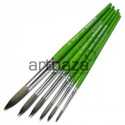 """Кисть синтетическая Green Leaf, круглая, """"5"""", Bergino 0184R 6959699070341"""