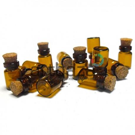 Стеклянная баночка с корковой пробкой (диаметр 1 см., высота 1.7 см.), REGINA | Декоративные стеклянные бутылочки купить в Киеве