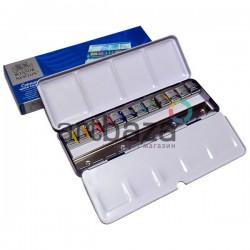 Набор художественных акварельных красок в металлическом пенале, 12 цветов, Winsor & Newton Cotman Blue Box в Киеве