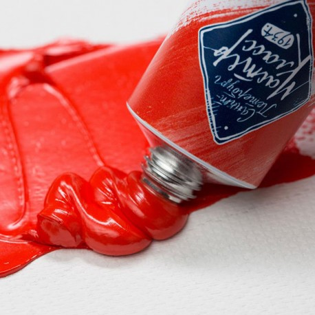 Краска художественная масляная, сadmium red light / кадмий красный светлый, 302, туба 46 мл., Мастер Класс 1104302 4607010580148