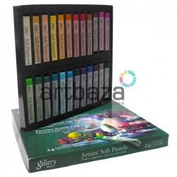 Пастель художественная сухая, профессиональная мягкая, 24 цвета, Mungyo, арт.: MPV-24 | Artists Soft Pastels