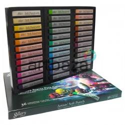 Пастель художественная сухая, профессиональная мягкая, 36 цветов, Mungyo, арт.: MPV-36 8804819061038