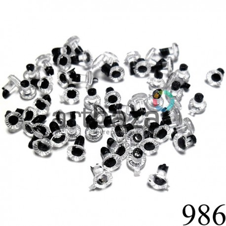Набор круглых глазок с черным зрачком для игрушек и кукол REGINA | 2000740227598 | Фурнитура для игрушек в Украине