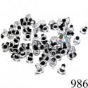 Набор миниатюрных круглых глазок с черным зрачком для игрушек и кукол, Ø4 мм., длина ножки 3 мм., REGINA