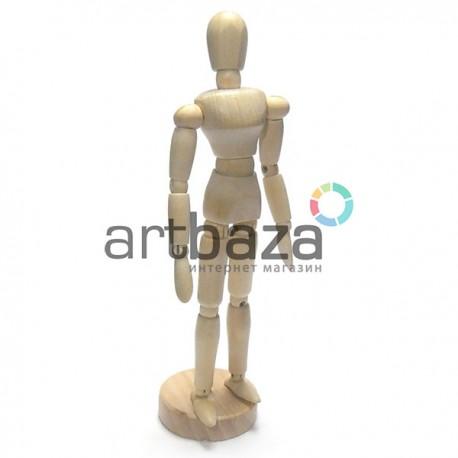 """Деревянный подвижный манекен человека (болван для рисования), 8"""" (20 см.), Maries купить в Украине"""