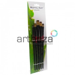Набор плоских синтетических кистей для рисования, 5 штук, Royal-Art