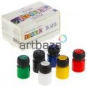 Набор акриловых красок  по ткани, 6 цветов по 20 мл., DECOLA