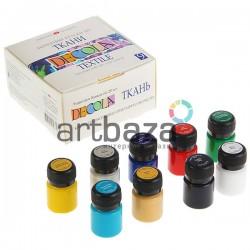 Набор акриловых красок по ткани, 9 цветов по 20 мл., DECOLA