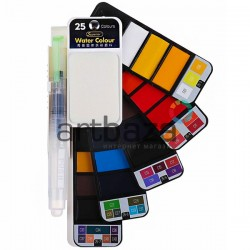 Набор художественных акварельных красок, 25 цветов + кисть brushpen + палитра, Superior