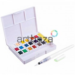 Набор художественных акварельных красок, 18 цветов + кисть brushpen + спонж, Superior