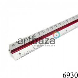 Линейка масштабная трехгранная, 30 см., 11 шкал, BODA