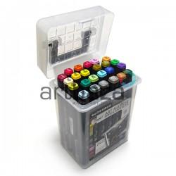 Набор художественных маркеров Tinge Twin для рисования, 24 цвета