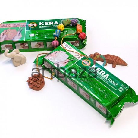 Керамическая самозатвердевающая масса для моделирования, 1 кг., терракотовая, Keraplast Koh-i-noor, арт. 131 707 / 8593540011350