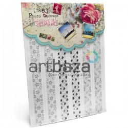 Самоклеющиеся уголки для фотографий в скрапбукинге и кардмейкинге Photo Corners, цвет серебро голограмма, 78 штук