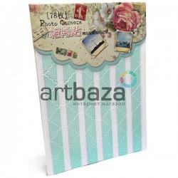 Уголки для альбомов и фотографий в скрапбукинге и кардмейкинге Photo Corners, цвет мята (мятный) в горошек, 78 штук