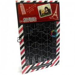 Фотоуголки - наклейки для альбомов и фотографий в скрапбукинге / кардмейкинге Photo Corners, цвет чёрный, 102 штуки