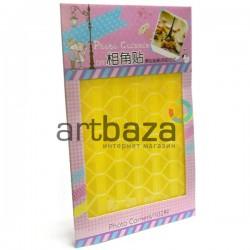 Уголки на клеевой основе для скрапбукинга Photo Corners, цвет жёлтый, 102 штуки (2000082417534)