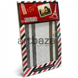 Самоклеющиеся уголки для фотографий Photo Corners, цвет перламутровый, 102 штуки, арт.: 029 (2000082378521) купить в Киеве оптом