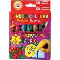 Набор красок для рисования на стекле, 10.5 мл., 5+2 цветов, Koh-I-Noor