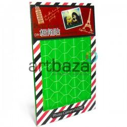 Уголки самоклеющиеся для фотографий / альбомов в скрапбукинге / кардмейкинге Photo Corners, цвет зеленый, 102 штуки