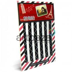 Уголки для альбомов и фотографий в скрапбукинге и кардмейкинге Photo Corners, цвет черно - белый, 102 штуки