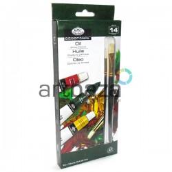 Набор художественных масляных красок, 12 цветов + 2 кисти, Royal Langnickel, арт.: OIL12 (090672028198)