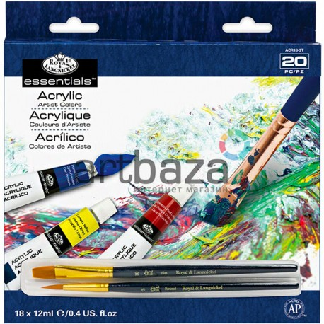 Набор художественных акриловых красок, 18 цветов по 12 мл., Royal Langnickel, арт.: ACR18 (090672028587)