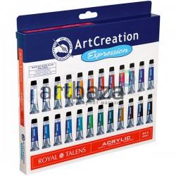 """Набор акриловых красок """"ArtCreation"""" 24 цвета по 12 мл., Royal Talens"""