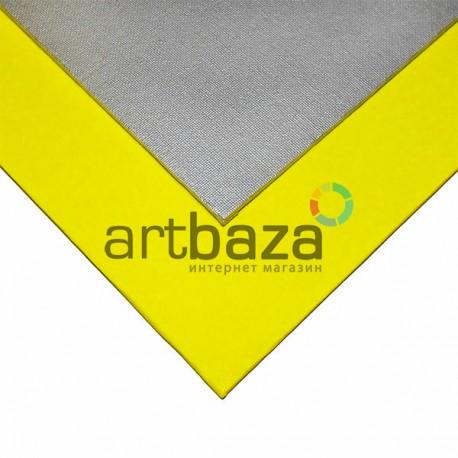 Хлопковый грунтованный холст на картоне, р-р: 30x40 см., Phoenix | Цвет акрилового грунта - насыщенный желтый