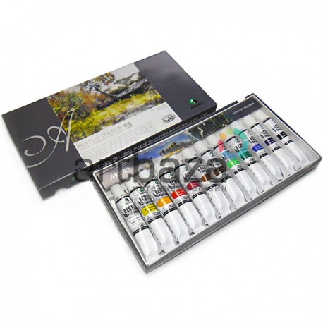 Набор художественных акриловых красок, 12 цветов по 12 мл., Maries | Арт.: 812B | 6901893620129