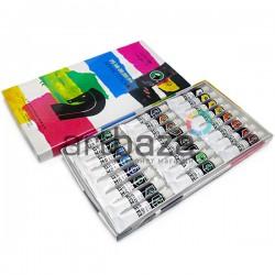 Набор художественных акриловых красок, 24 цвета по 12 мл., Maries