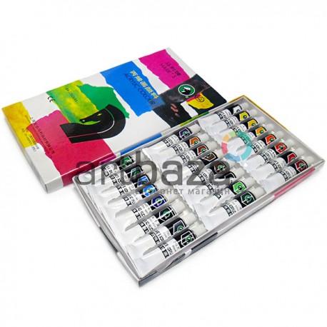 Набор художественных акриловых красок, 24 цвета по 12 мл., Maries   Арт.: 824B   0690189360024