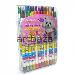 Детские восковые цветные карандаши, выкручивающиеся, 24 цвета, Rolling Crayon | MD-306-C | 6921969730620