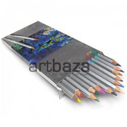 Профессиональные художественные цветные карандаши , шестигранные, 12 шт., Marco Raffine | 7100-12CB | 6951572903470