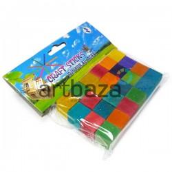 Набор цветных деревянных кубиков, 1.5 x 1.5 x 1.5 см., 24 штуки, Craft Stick
