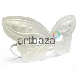 """Венецианская карнавальная маска """"Бабочка"""", плоская с резинкой, 23 см. x 11.5 см."""