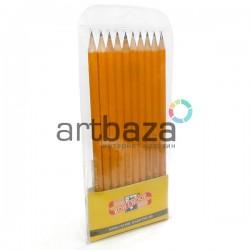 Набор технических чернографитных карандашей 1570, 10 штук в полибэге, Koh-I-Noor ● Арт.: 1570/10 ● 8593539622369