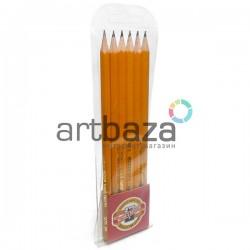 Набор технических чернографитных карандашей 1570, 6 штук в полибэге, Koh-I-Noor ● 1570/6 ● 8593539025238