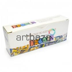 Краски по керамике на водной основе, 4 цвета по 10 мл., Decola