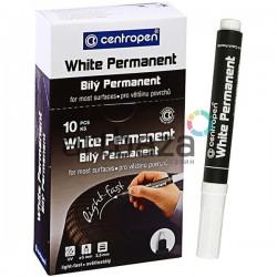 Маркер White Permanent 8586, белый, 2.5 мм., Centropen