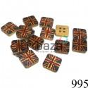 """Набор деревянных декоративных пуговиц """"GREAT BRITAIN"""", 1.3 x 1.3 x 0.3 см., 15 штук, REGINA"""