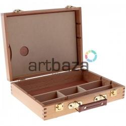 Деревянный кейс - пенал для художественных принадлежностей с палитрой, CONDA