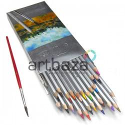 Карандаши акварельные, 24 цвета, шестигранные, Marco Raffine