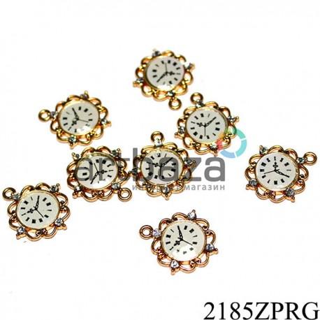 """Металлическая подвеска """"Старинные часы"""" для скрапбукинга, декора и handmade браслетов, Ø13 мм."""