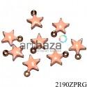 """Металлическая подвеска """"Розовая звезда"""" для скрапбукинга, 14 x 12 мм."""