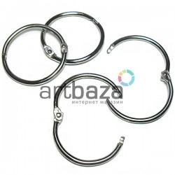 Набор колец металлических для переплета (скрапбукинга), разъёмных, ∅3.6 см., 4 штуки, REGINA