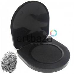 Подушка дактилоскопическая для снятия отпечатков пальцев, черная, Ø47 мм.