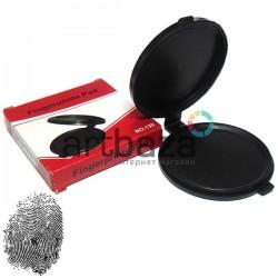 Подушка дактилоскопическая для снятия отпечатков пальцев, черная, Ø51 мм.
