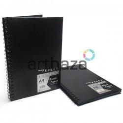 Альбом для эскизов и зарисовок, черные листы, 210 х 297 мм., Maries